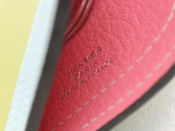 エルメス キーホルダー カマイユ Camail ライム×ブルーゼファー×マラカイト×オレンジポピー×シルバー金具 ヴォ―エプソン A刻印 HERM