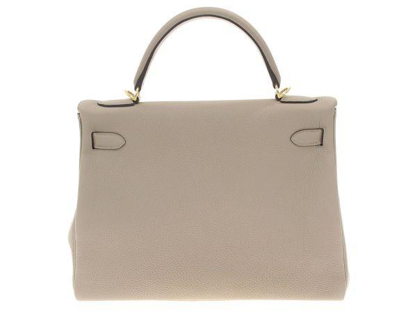 【送料無料】【新品】エルメス ハンドバッグ ケリー32 cm 内縫い グリアスファルト×ゴールド金具 トゴ A刻印 HERMES Kelly バッグ