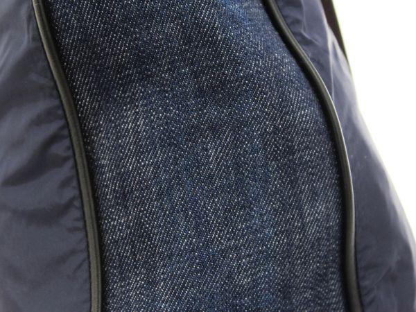 【送料無料】【中古】ベルルッティ トートバッグ カリグラフィ ヴェネチアレザー ネイビー ナイロン デニム Berluti バッグ メンズ