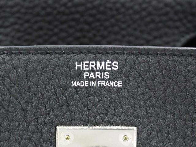 【送料無料】【未使用】エルメス バーキン30 cm ハンドバッグ ブラック×シルバー金具 トゴ T刻印 HERMES Birkin バッグ