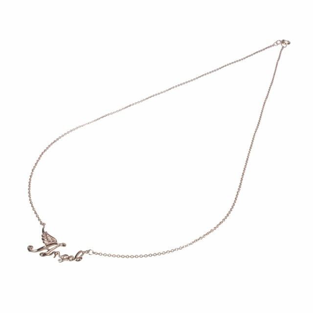6892e3b49f4154 石輝 ピンクゴールド18Kペンダントネックレス天使の羽根が女性らしくキュート レディース