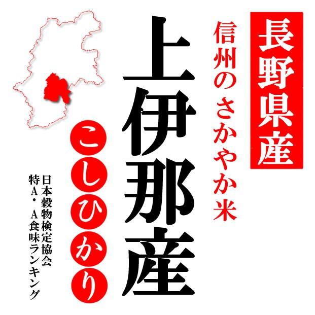 【送込】「A」受賞 29年産長野県南信(上伊那)産コシヒカリ 白米10kgx3袋