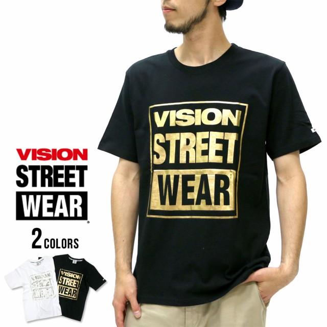 ヴィジョン ストリート ウェアー Tシャツ メンズ 箔ロゴ プリント Tシャツ 半袖 マルカワ VISION STREET WEAR ストリート  カジュアル アの通販はWowma!