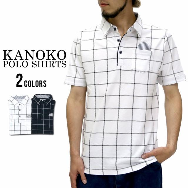 (マルカワジーンズパワージーンズバリュー) Marukawa JEANS POWER JEANS VALUE ポロシャツ メンズ 半袖 チェック  ポケット付き 2colorの通販はWowma!