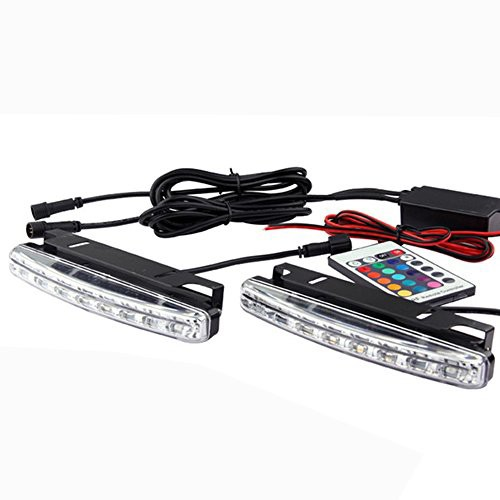 MOTOSTAR LEDデイライト スポットライト RGB LEDライト 車幅灯 汎用 ...