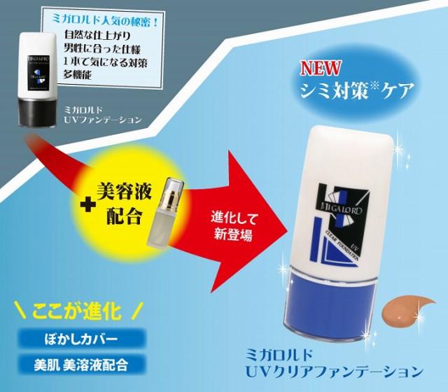 ミガロルドUVファンデーション+美容液配合→ミガロルド UVクリアファンデーション