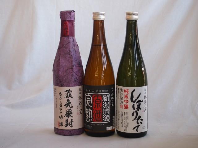 年に一度の限定醸造 頚城酒造限定3本セット(しぼりたて純米吟醸 蔵元厳封吟醸 完熟原酒) 720ml×3本 ギフト飲み比べ セット