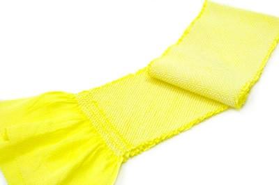 七五三の祝い着にオススメな正絹絞り帯揚げ/鹿の子/蛍光黄色