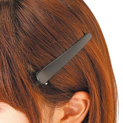 黒/マットカラープラスチックヘアクリップ