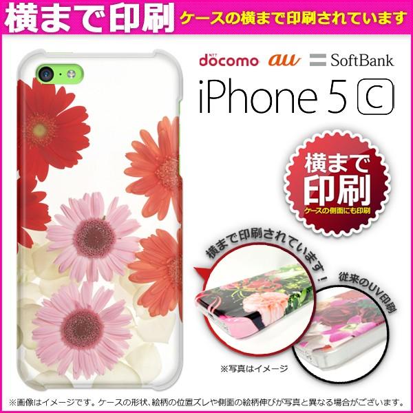 ゆうパケ★3D印刷★ docomo/au/SoftBank iPhone 5C ケース/カバー [花・ガーベラ(白)/i5c-3d1099]