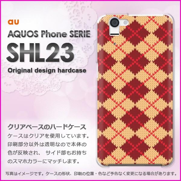 即納&au AQUOS Phone SERIE SHL23 ハードケース/カバー チェック(赤)/shl23-pc-ne103]
