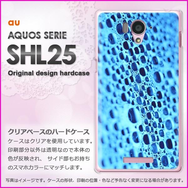 ゆうパケau AQUOS SERIE SHL25 ハードケース/カバー 水滴・シンプル(ブルー)/shl25-pc-new0171]