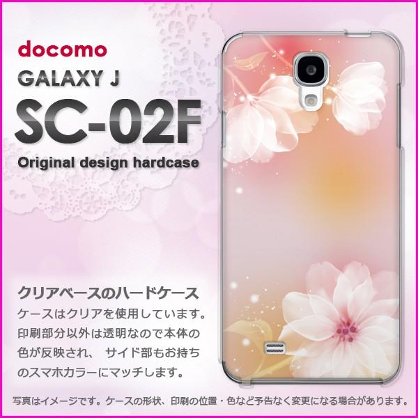 即納&docomo GALAXY J SC-02F(ギャラクシー) ハードケース/カバー 花(ピンク)/sc02f-pc-new1421]