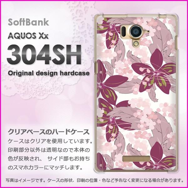 ゆうパケSoftBank AQUOS Xx 304SH ハードタイプ ケース/カバー フラワー082/304sh-PM082]