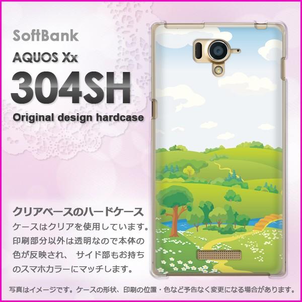 ゆうパケSoftBank AQUOS Xx 304SH ハードタイプ ケース/カバー 丘298/304sh-PM298]