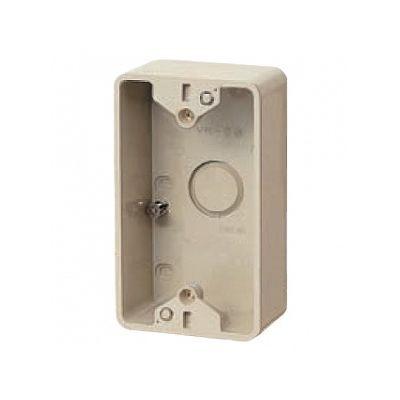未来工業 【お買い得品 20個セット】露出スイッチボックス ブランクタイプ 1ヶ用 ベージュ PVR-0J_20set