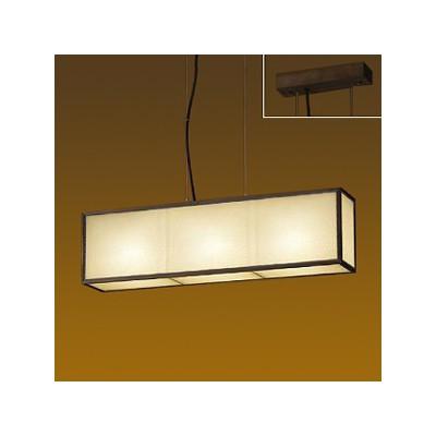 DAIKO LED和風ペンダントライト 電球色 非調光タイプ E17口金 白熱灯60W×3灯タイプ 端子台木ネジ取付方式 DPN-39115Y