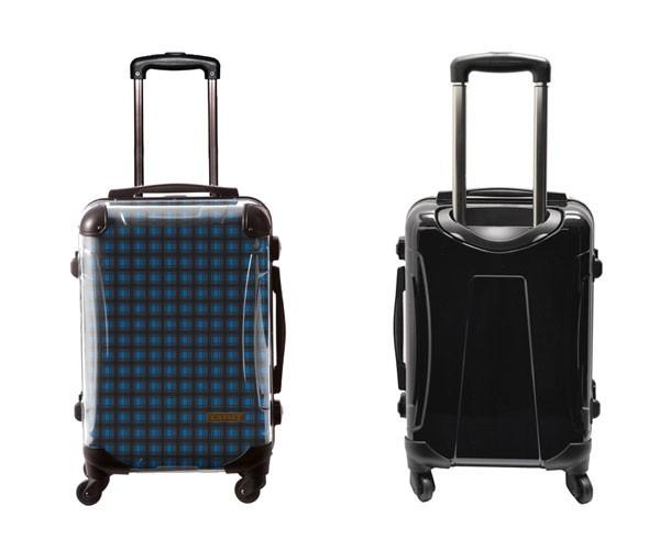 スーツケース キャラート アートスーツケース ベーシック カラーチェックモダン(ブルー1) 機内持込 CRA01H-023A