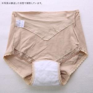 失禁対応 安心ショーツ 吸水布付き 消臭制菌 レース