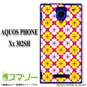 【SoftBank AQUOS PHONE Xx 302SH 専用】 スマホ カバー ケース (ハード) 和柄9 ピンク