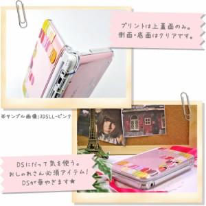 new NINTENDO 2DS LL カバー ケース ハード クリアデザインケース / ローズチェック 薔薇 バラ クロス ピンク グリーン カワイイ