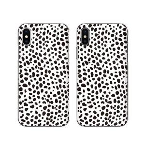 Apple iPhone X スマホ ケース ハード カバー アイフォンケース ダルメシアン 白黒