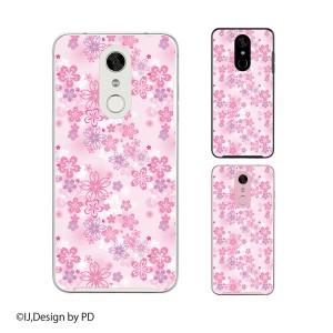 Disney Mobile on docomo DM-01K スマホ ケース ハード カバー ディズニーモバイル 花柄6 桜 ピンク