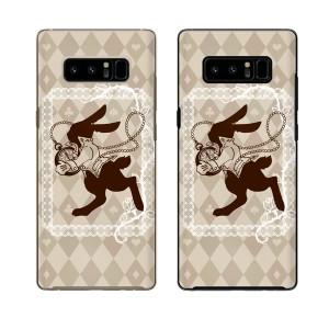 docomo Galaxy Note8 SC-01K スマホ ケース ハード カバー ギャラクシー ウサギと時計 不思議の国2