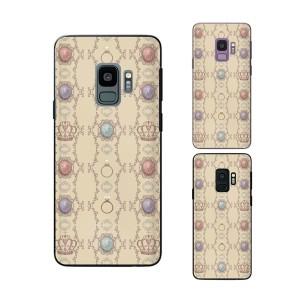 Galaxy S9 (docomo SC-02K / au SCV38) スマホ ケース カバー 宝石 ベージュ