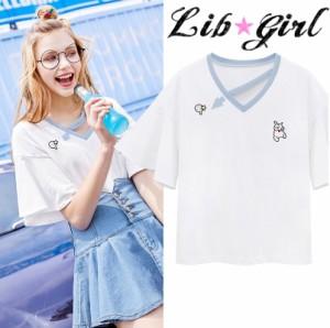 Lib★Girl 矢印ラインTシャツトップス(WG6323W-G3)