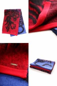 【送料無料】ジャストカヴァリ【JUST CAVALLI】スカーフ(TE0002 14210)レッドXブルー【アウトレット】