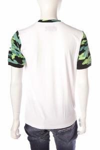 【送料無料】ハイドロゲン【HYDROGEN】Tシャツ/半袖/丸首/TENNIS【メンズ】ホワイトXメイサイ【アウ(FR0051)