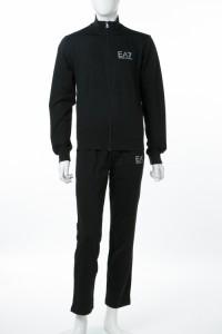 newest 26463 85ee1 アルマーニ エンポリオアルマーニ Emporio Armani EA7 スーツ セットアップジャージ ブラック メンズ (3ZPV53 PJ05Z)  ...