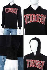 ハイドロゲン HYDROGEN トレーナー パーカー フーディ スウェット ブラック メンズ (220628) 送料無料 2018SS_SALE