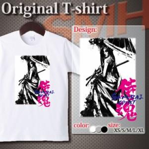 アパレル Tシャツ 半袖 カットソー UNISEX Uネック クルーネック プリントTシャツ 侍魂 サムライスピリッツ 侍ガール