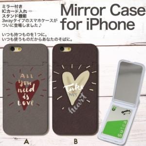 iPhone X ケース 8/8Plus 7/7Plus 6s/6sPlus SE/5/5s ミラー付き 鏡 スマホ ハードケース ICカード収納 自由の女神 New York America