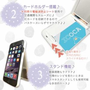 鏡付き ミラー付き iPhoneケース iPhoneX iPhone8 ケース ICカード収納 スマホカバー セクシー sexy リップ FUCKUP ロゴ