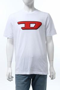ディーゼル DIESEL Tシャツ 半袖 丸首 クルーネック T-JUST-DIVISION-D MAGLIET ホワイト メンズ (00SY7A 0CATJ)