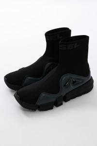 ディーゼル DIESEL スニーカー ソックススニーカー ハイカット 靴 H-PADOLA HSB SNEAKERS ブラック メンズ (Y02475 P2600) 送料無料