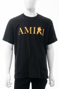 アミリ AMIRI Tシャツ 半袖 丸首 クルーネック ブラック メンズ (MJLT090) 送料無料 2021年秋冬新作
