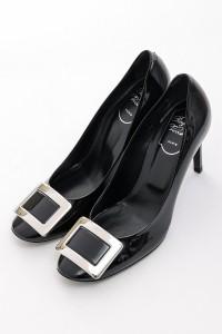 ロジェ ヴィヴィエ ROGER VIVIER パンプス ラウンドトゥ ハイヒール 靴 ブラック レディース (RVW28708620 D1P) 送料無料