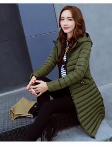 細めキルティング アウター 中綿コート 軽い ロング 暖かい ミリタリー モッズコート 大きいサイズ 韓国 ファッション プチプラ