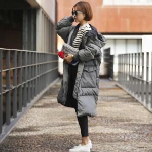 大きいサイズ ダウンコート ロング ダウンジャケット 中綿コート ロングコート アウター ゆったり 韓国 ファッション プチプラ