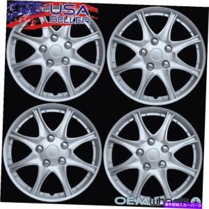 """Wheel Covers Set of 4 4新しいOEMシルバー16"""" ホイールキャップは、シボレーシボレーセンタートラックホイールがセットをカバー"""