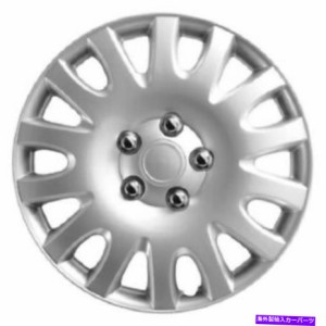 """Wheel Covers Set of 4 4本のホイールカバーのセット16"""" インチメタリックシルバークラシックシリーズの車のトラックのホイール"""