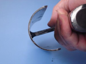 カクマン(本職用) 中首 外丸ラオ面引鏝 本焼 長さ150mm×径75mm 黒柄 受注生産品 736