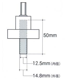ウイング パイプ付土台座掘錐専用センター軸(45mm・60mm兼用)
