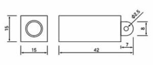 EBISU(エビス) 2本線キーホルダー気泡管 15×15×42mm(K42-2L)