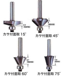 大日商 コーナービット カサ付面取【トリマー用】45°