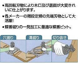 大日商 超硬ストレートビット【トリマー用】 6x6(2p)
